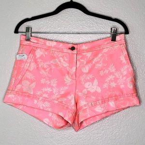 NWT Yoana Baraschi Coral Pink Floral Shorts